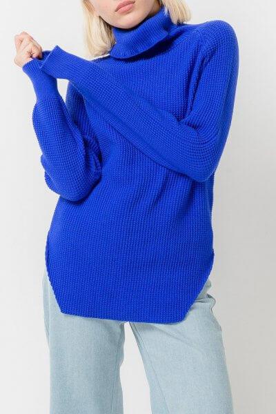 Удлиненный свитер с разрезами TFAM_AN14, фото 1 - в интеренет магазине KAPSULA