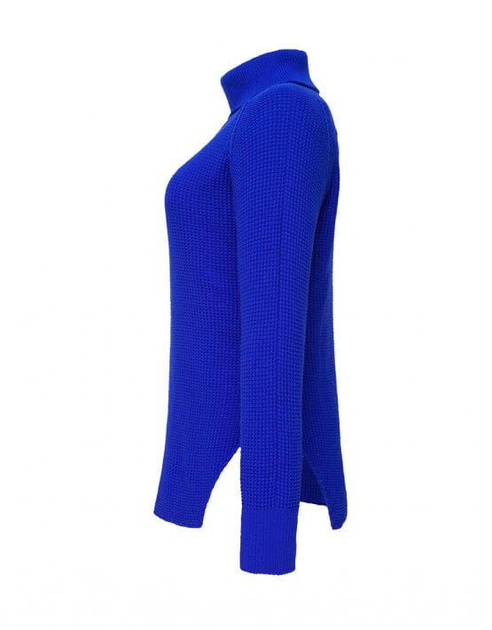 Удлиненный свитер с разрезами TFAM_AN14, фото 6 - в интеренет магазине KAPSULA