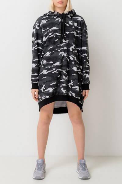 Камуфляжное платье-худи из хлопка TFAM_AN7, фото 1 - в интеренет магазине KAPSULA
