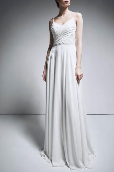 Шифоновое платье на тонких бретелях TTWH_В1908_outlet, фото 1 - в интеренет магазине KAPSULA