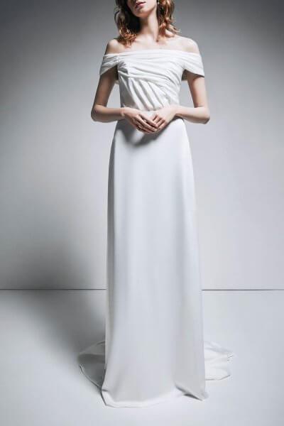 Платье с открытыми плечами TTWH_В1909_outlet, фото 1 - в интеренет магазине KAPSULA