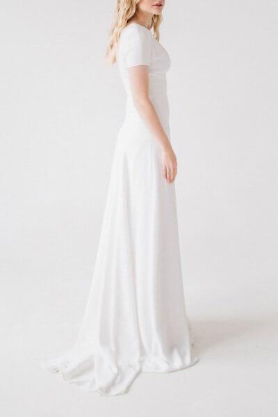 Платье макси с разрезом TTWH_1816_outlet, фото 1 - в интеренет магазине KAPSULA