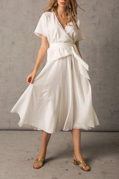 Шифоновая юбка в горох TTWH_1915_outlet, фото 1 - в интеренет магазине KAPSULA