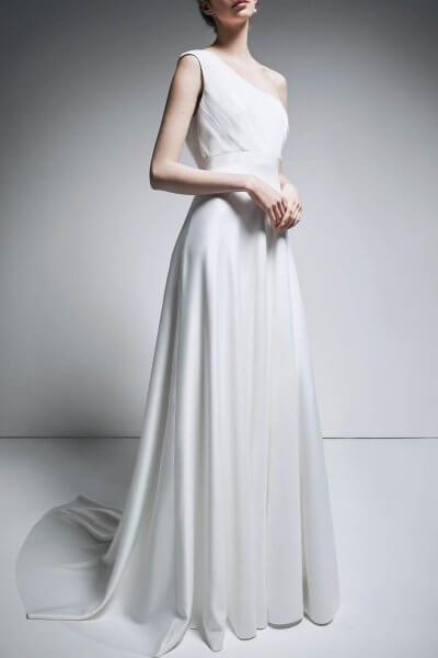 Платье на одно плечо TTWH_B1905_outlet, фото 1 - в интеренет магазине KAPSULA
