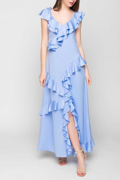 Шелковое платье с рюшами TT_SS20_01, фото 5 - в интеренет магазине KAPSULA