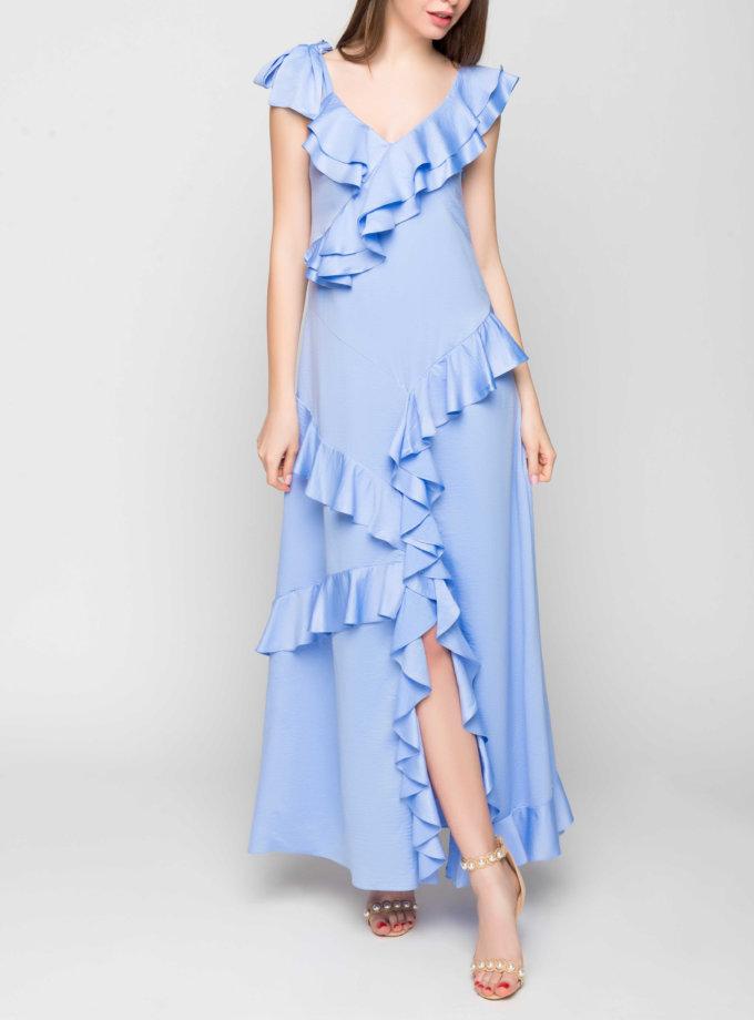 Шелковое платье с рюшами TT_SS20_01, фото 1 - в интеренет магазине KAPSULA