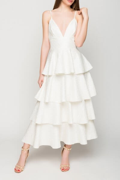 Платье макси из жаккарда TT_SS20_02, фото 1 - в интеренет магазине KAPSULA