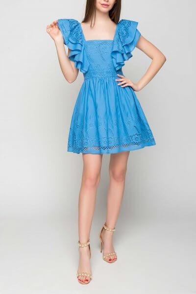 Хлопковое платье в рюши TT_SS20_03, фото 3 - в интеренет магазине KAPSULA