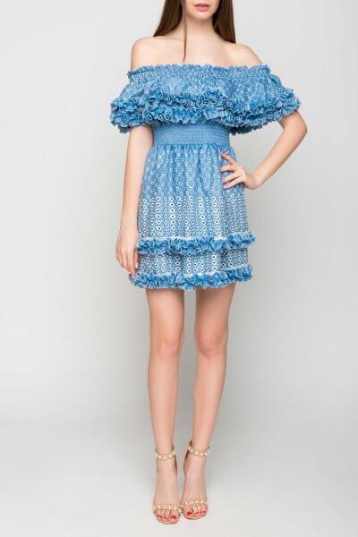 Шелковое платье  открытыми плечами TT_SS20_04, фото 1 - в интеренет магазине KAPSULA