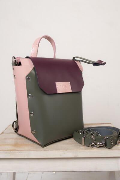 Рюкзак из кожи Adara VIS_Adara:backpack-002, фото 4 - в интеренет магазине KAPSULA