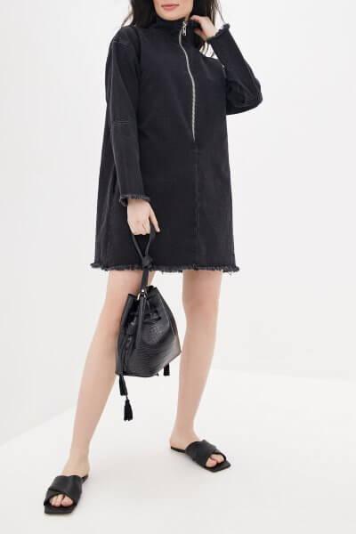 Джинсовое платье мини WNDM_ddbl1, фото 1 - в интеренет магазине KAPSULA