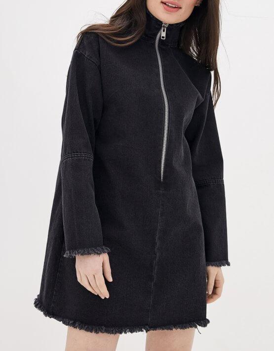 Джинсовое платье мини WNDM_ddbl1, фото 4 - в интеренет магазине KAPSULA