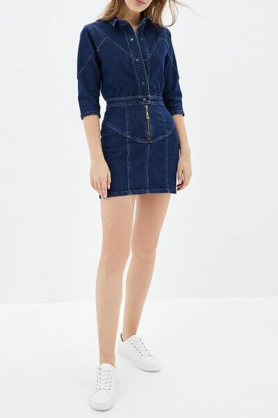 Джинсовое платье мини WNDM_dh1, фото 1 - в интеренет магазине KAPSULA