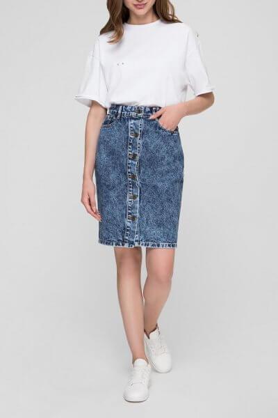 Джинсовая юбка с пуговицами WNDM_sb3, фото 1 - в интеренет магазине KAPSULA