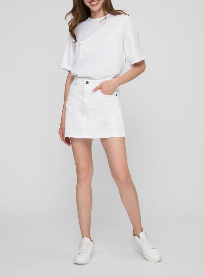 Джинсовая юбка мини WNDM_sb4, фото 1 - в интернет магазине KAPSULA
