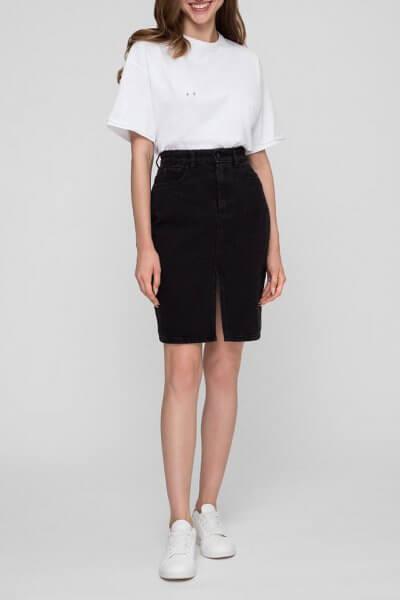 Джинсовая юбка с разрезом WNDM_sbs1, фото 1 - в интеренет магазине KAPSULA