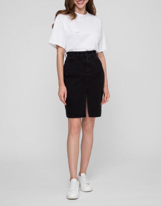 Джинсовая юбка с разрезом WNDM_sbs1, фото 3 - в интеренет магазине KAPSULA