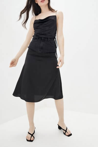 Комбинированная юбка миди WNDM_sdsy0, фото 1 - в интеренет магазине KAPSULA