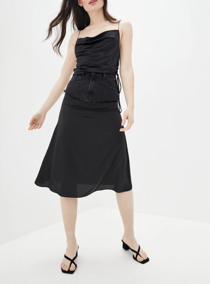 Комбинированная юбка миди WNDM_sdsy0, фото 1 - в интернет магазине KAPSULA