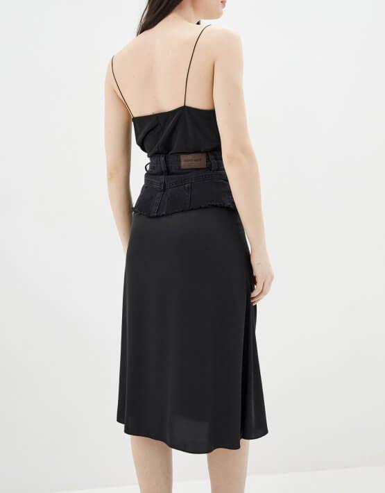 Комбинированная юбка миди WNDM_sdsy0, фото 4 - в интеренет магазине KAPSULA