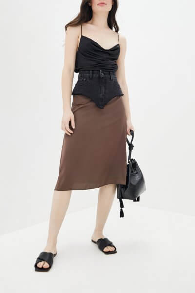 Комбинированная юбка миди WNDM_sdsy1, фото 1 - в интеренет магазине KAPSULA