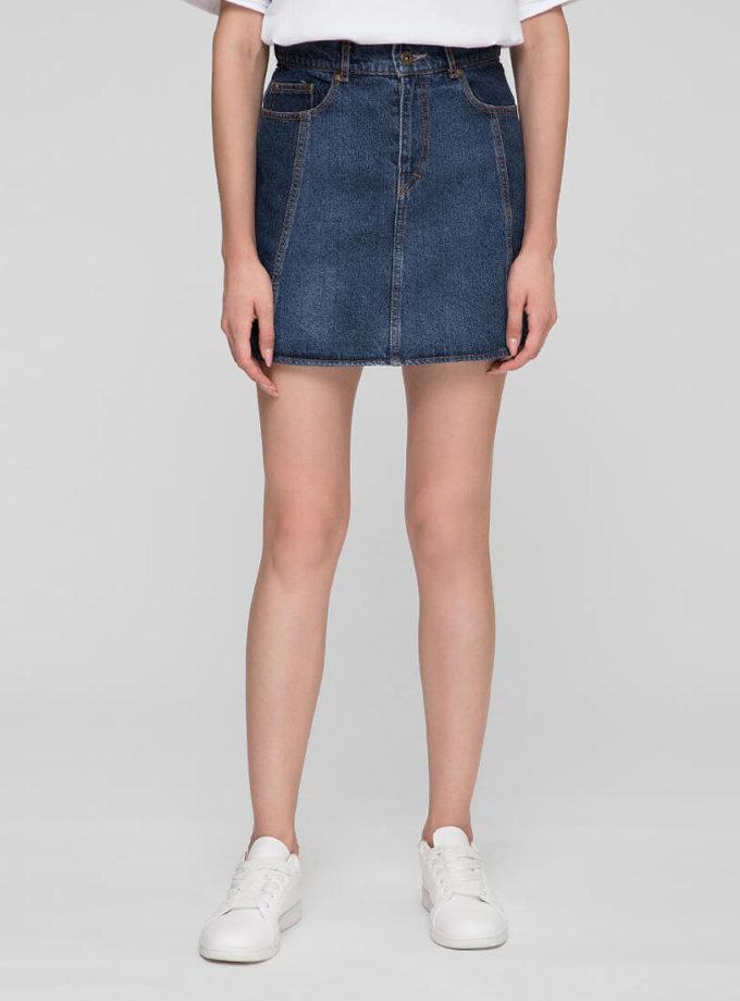 Джинсовая юбка мини WNDM_sm1, фото 1 - в интернет магазине KAPSULA