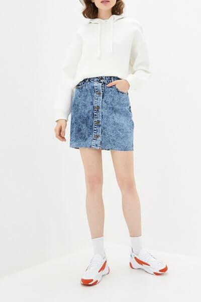 Джинсовая юбка с пуговицами WNDM_smbs1, фото 1 - в интеренет магазине KAPSULA