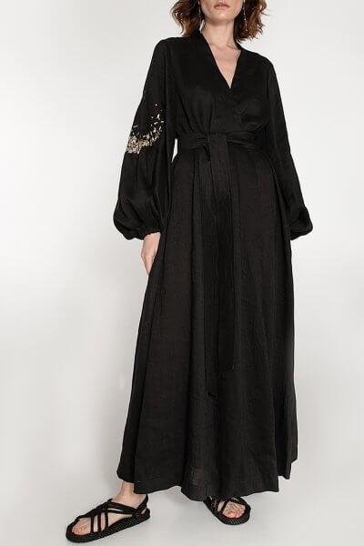 Платье на запах из льна WNDR_ss20_dlb_03, фото 1 - в интеренет магазине KAPSULA