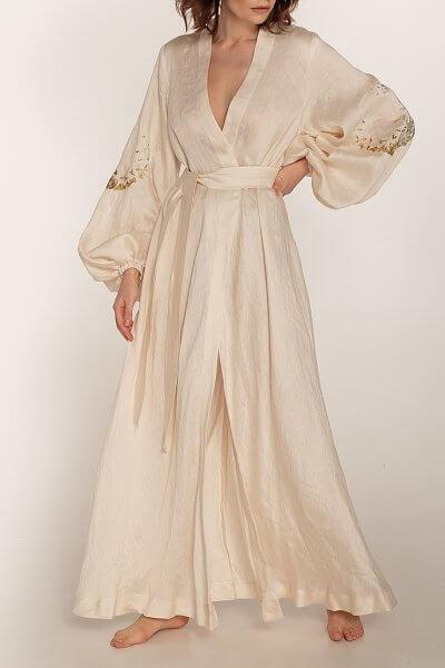 Платье на запах из льна WNDR_ss20_dlm_03, фото 1 - в интеренет магазине KAPSULA