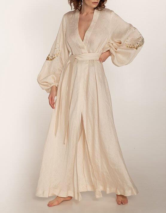 Платье на запах из льна WNDR_ss20_dlm_03, фото 4 - в интеренет магазине KAPSULA