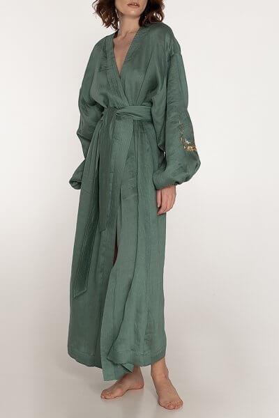 Платье на запах из льна WNDR_ss20_dlmt_03, фото 1 - в интеренет магазине KAPSULA