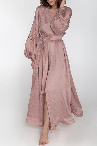 Платье на запах из льна WNDR ss20_dress_zapah_len_milk, фото 1 - в интеренет магазине KAPSULA