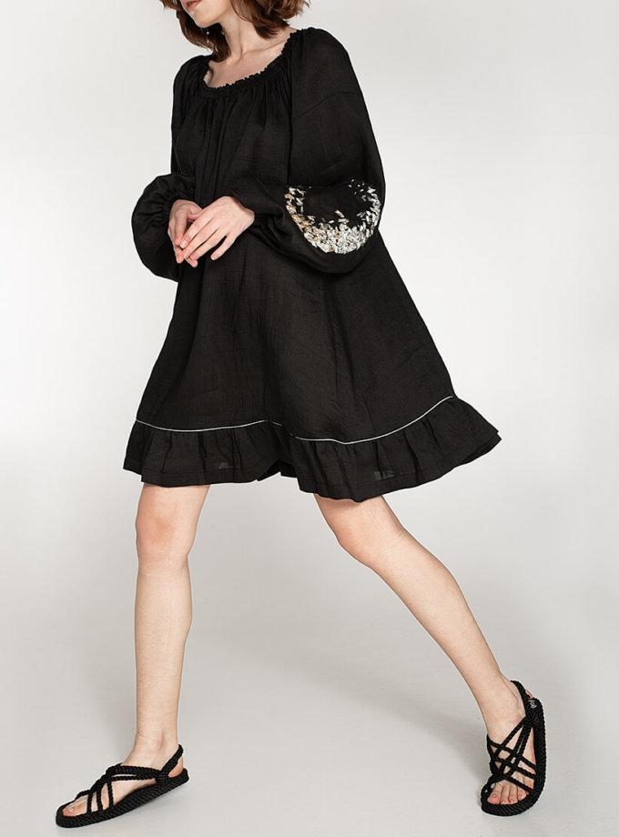 Льняное платье со спущенными плечами WNDR_ss20_dsb_04, фото 1 - в интеренет магазине KAPSULA