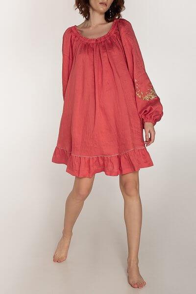 Льняное платье со спущенными плечами WNDR_ss20_dsk_04, фото 1 - в интеренет магазине KAPSULA