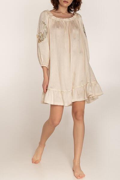 Льняное платье со спущенными плечами WNDR_ss20_dsm_04, фото 1 - в интеренет магазине KAPSULA