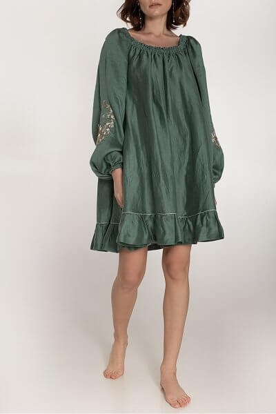 Льняное платье со спущенными плечами WNDR_ss20_dsmt_04, фото 1 - в интеренет магазине KAPSULA