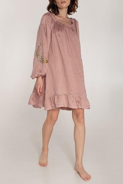 Льняное платье со спущенными плечами WNDR_ss20_dsp_04, фото 1 - в интеренет магазине KAPSULA