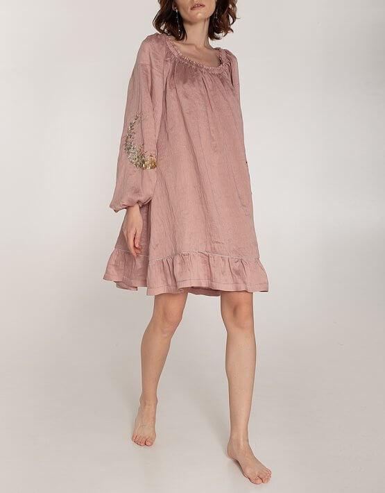 Льняное платье со спущенными плечами WNDR_ss20_dsp_04, фото 5 - в интеренет магазине KAPSULA