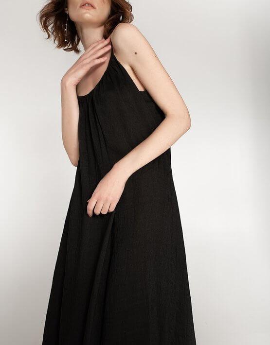 Сарафан с открытой спиной из льна WNDR_ss20_sb_05, фото 4 - в интеренет магазине KAPSULA