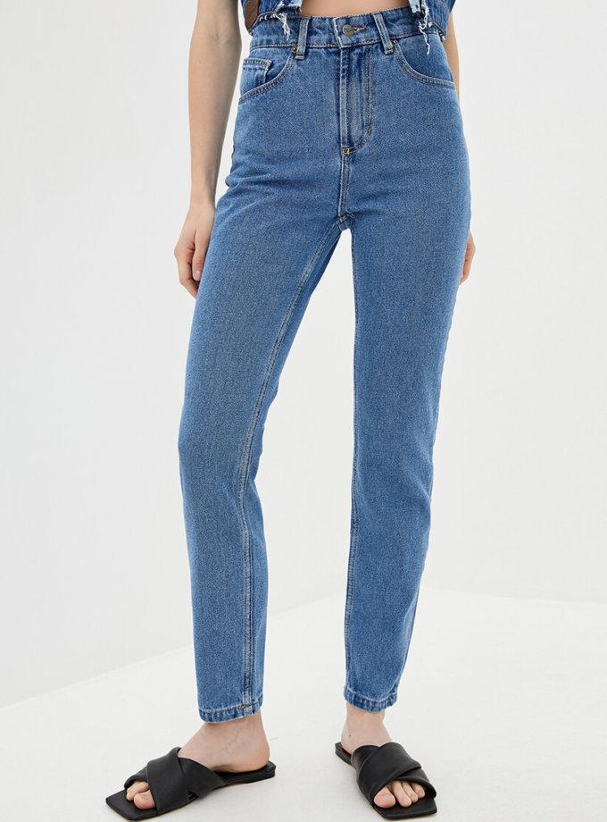 Хлопковые джинсы Mom WNDM_jm1, фото 1 - в интернет магазине KAPSULA