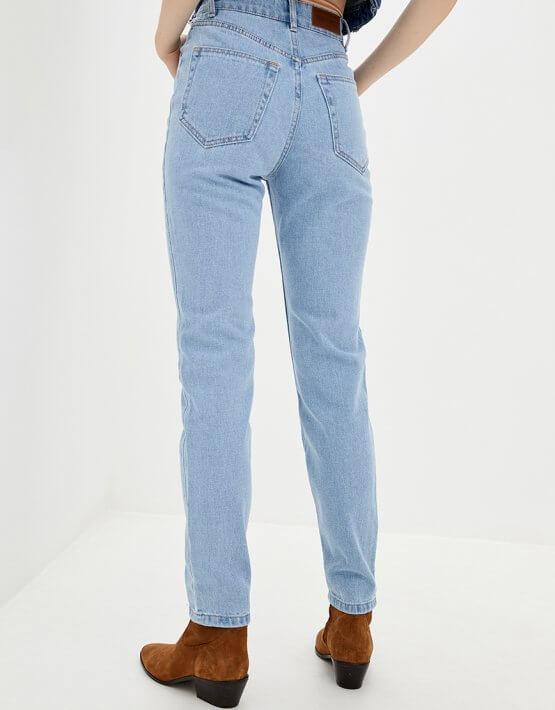 Хлопковые джинсы Mom WNDM_jm2, фото 4 - в интеренет магазине KAPSULA