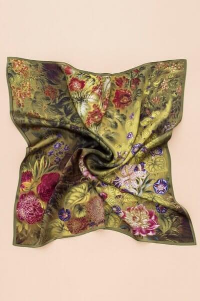 Шелковый платок Буйная 100х100 OLZ_AK19, фото 1 - в интеренет магазине KAPSULA