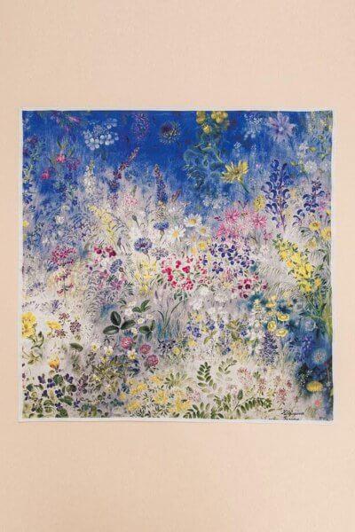 Шелковый платок Полевые цветы 65х65 OLZ_АК24, фото 1 - в интеренет магазине KAPSULA