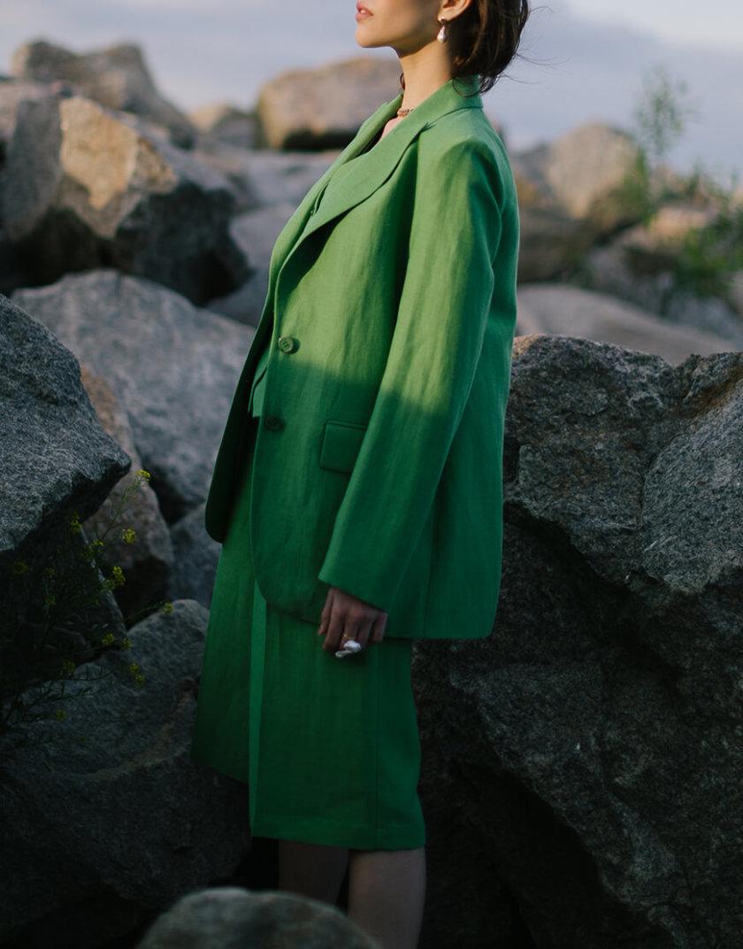 Льняной жакет с тремя карманами SHKO_20008001, фото 1 - в интернет магазине KAPSULA