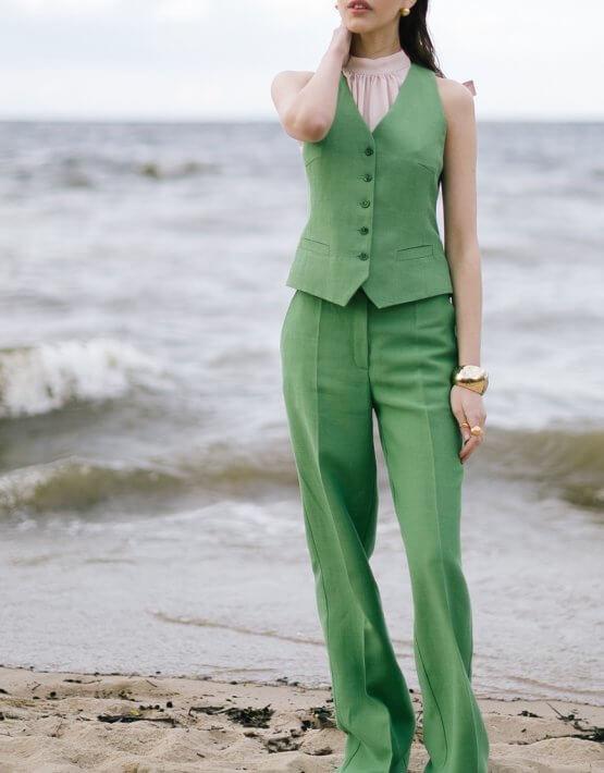 Льняной жилет с карманами SHKO_20009001, фото 8 - в интеренет магазине KAPSULA