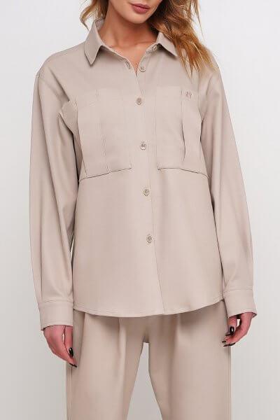 Обьемная рубашка с карманами AY_2947, фото 1 - в интеренет магазине KAPSULA