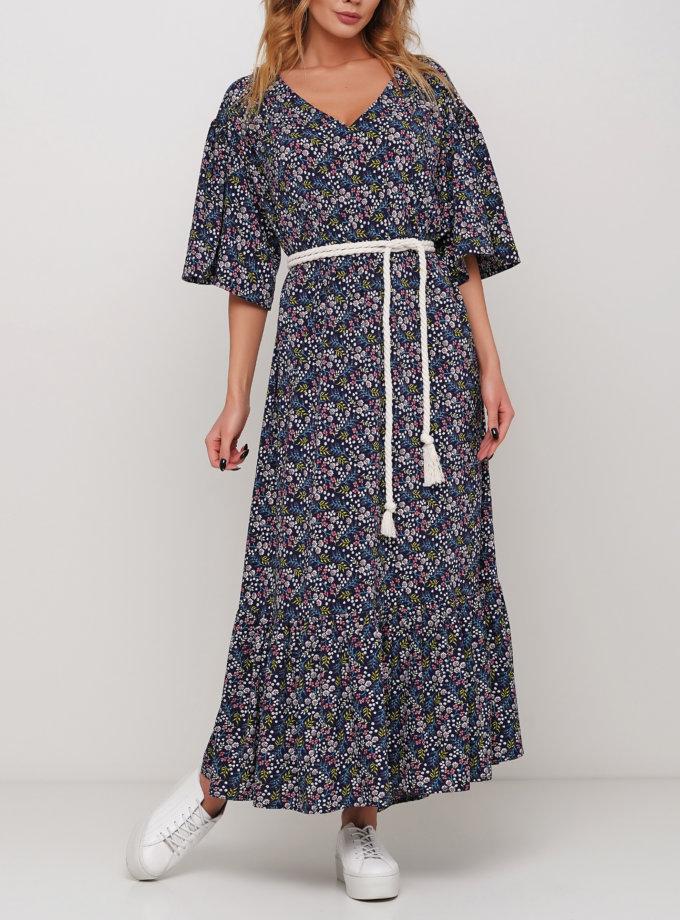 Платье макси в мелкий цветочек AY_2962, фото 1 - в интеренет магазине KAPSULA