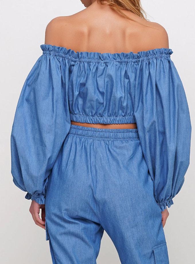 Блуза из тонкого джинса AY_2968, фото 1 - в интернет магазине KAPSULA