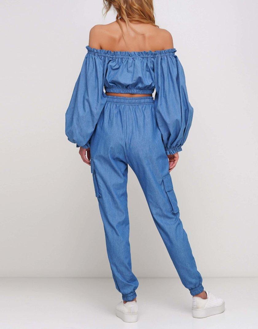 Брюки из легкого джинса с карманами AY_2969, фото 1 - в интернет магазине KAPSULA