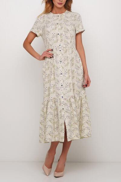Платье с мелким цветочным принтом AY_2975-1, фото 3 - в интеренет магазине KAPSULA